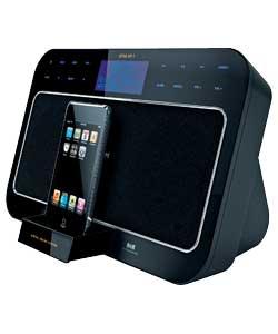ihome portable ipod dock alarm clock stylishmusicgadget. Black Bedroom Furniture Sets. Home Design Ideas