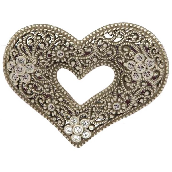 Butterfly Blue Filigree Heart Belt Buckle by product image