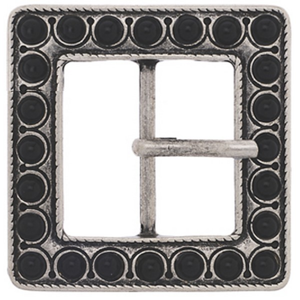 Butterfly Blue Jet Stone Square Belt Buckle by product image