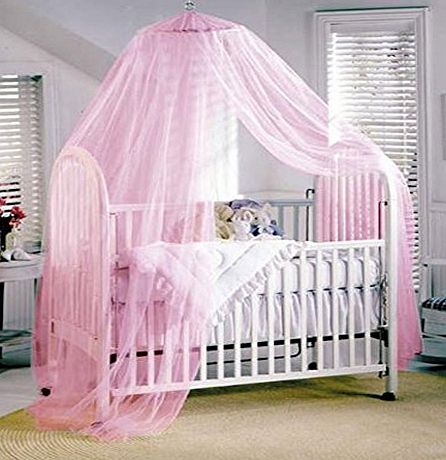 Butterme Dome Bed Canopy Netting Princess Mosquito Net for Babies and Adults (Pink)