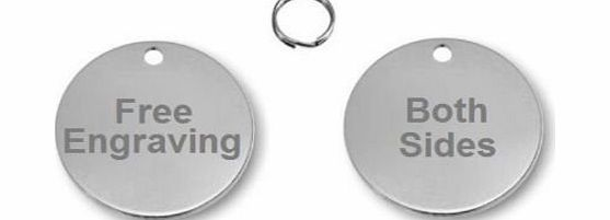 Buy It Sell It Quality 25mm Nickel Silver Round Dog, Cat ID Tag, Free Engraving amp; P P