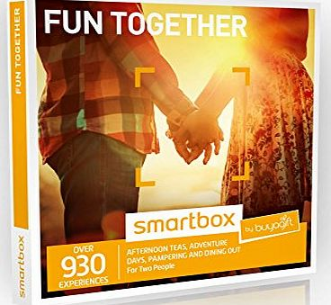 Buyagift Fun Together Experience Gift Box - 930 Gift Experiences - For Couples, Pamper Day, Dinner for Two, Days Out, Spa Day, For Two, Afternoon Tea,