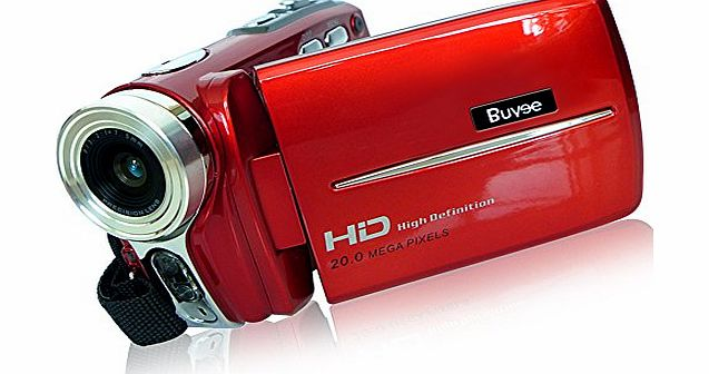 Buyee HD 20mp 16x Zoom Digital 3.0 inches Video Camera Camcorder Dv Full Hd 720p Red
