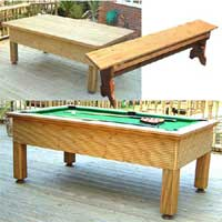 BWL The Evergreen Outdoor Pool Table Set 3 7 x 4 Foot