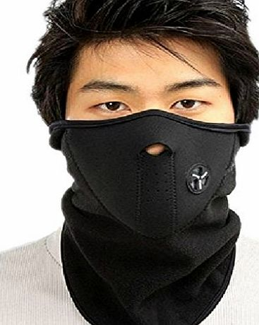 BXT BAO CORE Winter Balaclava Hood Half Face Ski Thermal Fleece Mask Dust Windproof Face Neck Warmer for Motorcycling Skiing Melding Gauze Mask Mens Womens With Adjustable Velcro-Black