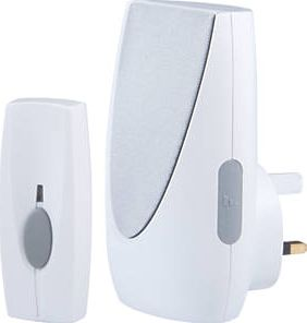 Byron, 1228[^]49716 Wireless 100m Plug-In Door Chime with Li-Ion
