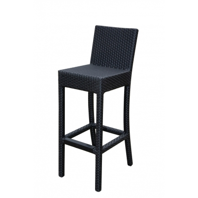 Black Wicker Large Bar Stool