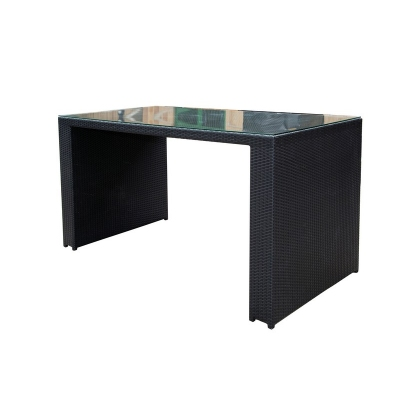 Black Wicker Large Bar Table