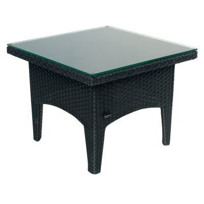 Cadix Quattro Black Wicker Small Table on wicker garden furniture uk