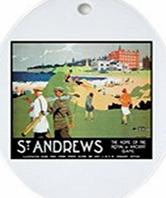 CafePress - ST. ANDREWs GOLF CLUB 2 - Oval Holiday Christmas Ornament