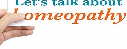 CafePress - Talk Homeopathy Sticker (Bumper) - 10``x3`` Rectangle Bumper Sticker Car Decal