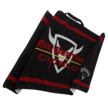 BIG BERTHA DIABLO GOLF TOWEL Black