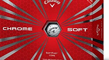 Callaway Chrome Soft Golf Balls(Pack of 12), White