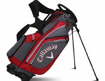Golf 2014 Chev Carry Stand Bag - Charcoal/Red/White