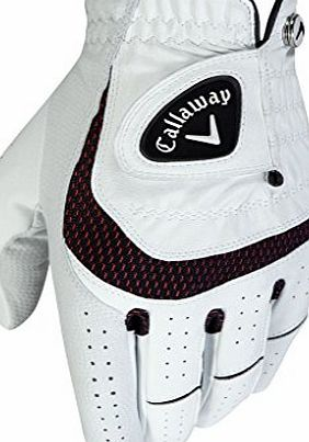 Callaway SynTech Golf Glove Mens White Left Hand (For Right Handed Golfers) Medium Mens White Left Hand (For Right Handed Golfers) Medium