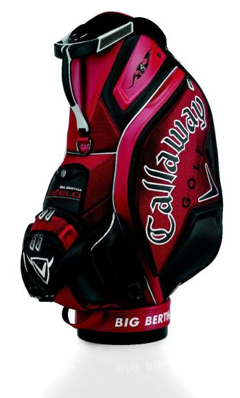 TOUR BIG BERTHA DIABLO 10.5 INCH STAFF GOLF BAG Red/Black