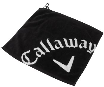 WEDGE GOLF TOWEL Black