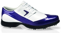 Wingtip Golf Shoes on Callaway Womens Wingtip Golf Shoes White Purple