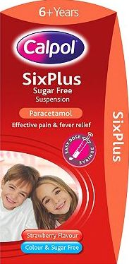 Calpol, 2041[^]10032864 Six Plus Sugar Free Suspension 100ml