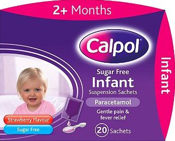 Calpol, 2041[^]10043984 Sugar Free Infant Suspension Sachets - 20