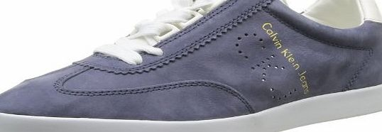 Calvin Klein Abbott Washed Nubuck/Smooth, Men Low-Top Sneakers, Multicolor (Navy/White), 8 UK (42 EU)