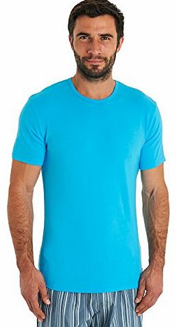 Calvin Klein Blue Crew Neck Cotton T-Shirt - M