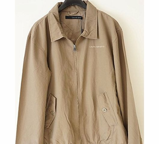 Calvin Klein  COTTON JACKET IN BROWN (LARGE)