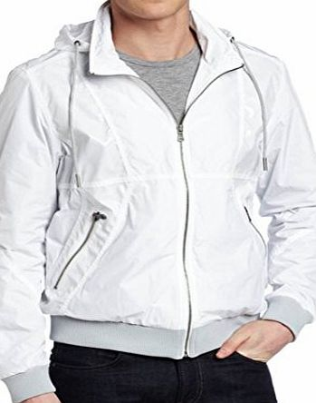 Calvin Klein  JEANS WHITE JACKET COAT MENS SIZE MEDIUM - NEW WITH TAGS