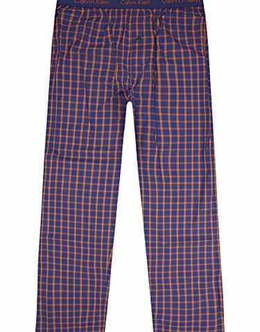 Calvin Klein Checkered Pyjama Bottoms Blue XL