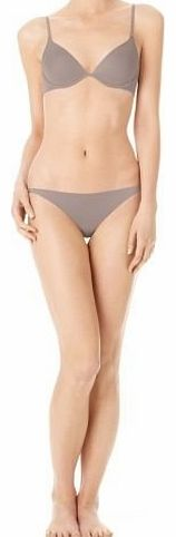 Calvin Klein Envy Plunge Bra & Bikini Brief Set, F3133 Smoke (UK 36C EU 80C - L Bikini)