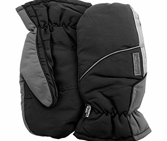 Calvin Klein Golf AW14 Mens Fleece Lined CK Winter Mittens - Black