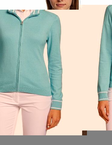 Calvin Klein Golf Womens Cardigan Sweaters - Impulse Blue/White, Small