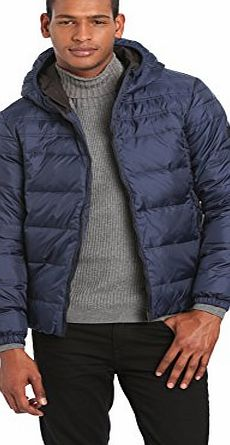 Calvin Klein Jeans Mens Down Jacket Blue (BLACK IRIS-PT 002) X-Large