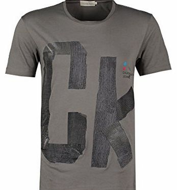Calvin Klein Jeans Mens grey print t-shirts A/W 2015 new toshi print t-shirt (M)