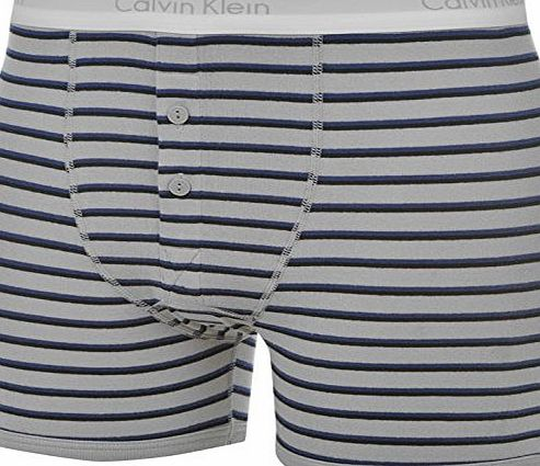 Calvin Klein Mens Classic Button Briefs Bottoms Boxers Underwear Lingerie Heritage Grey M