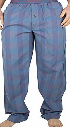 Calvin Klein Mens Deden Plaid Pyjama Bottoms, Blue, Large