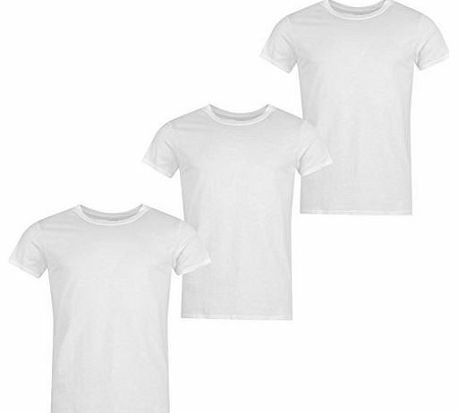Calvin Klein Mens Klein 3 Pack Crew Neck T Shirt Mens White L