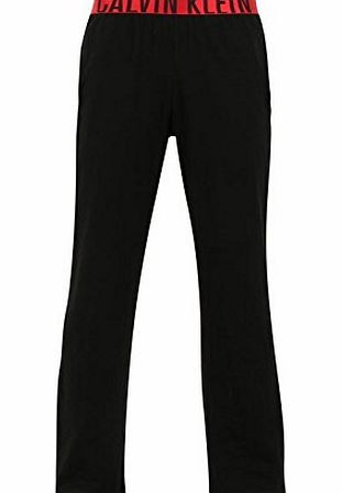 Calvin Klein Mens Klein Red Yoga Trousers Relaxed Fit Straight Leg Bottom Black/Red XL