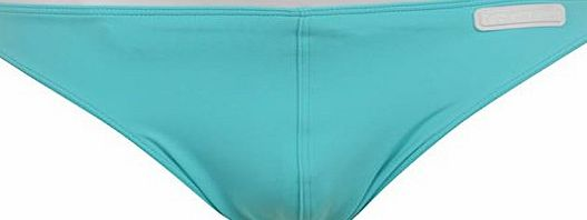 Calvin Klein Mens Solid Hip Brief Swimming Trunks Swim Pants Brand New Blue S