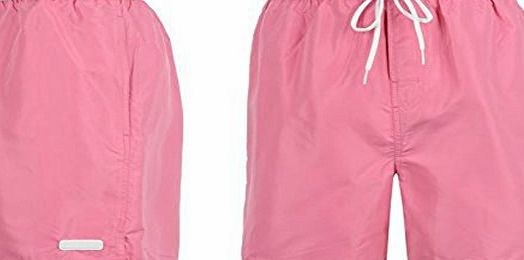 Calvin Klein Mens Volley Swimming Shorts Surf Board Beach Drawstring Comfort Pink L