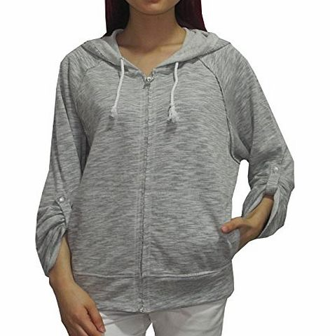 Calvin Klein Perfomance Womens Casual Super Soft Zip-Up Hoodie Jacket XL Grey