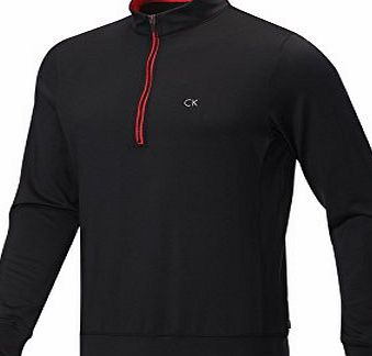 Calvin Klein PX4 Performance Golf Pullover Black/Red Large