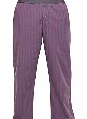 Calvin Klein Pyjama Pants in Purple/Charcoal or Blue/Red Stripe Colours