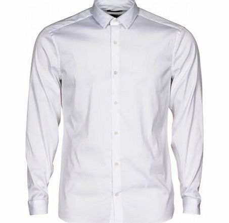Calvin Klein Wicker slim fit long sleeve shirt White 16