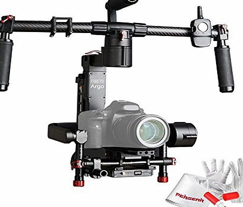 CAME TV CAME-TV ARGO 3-Axis Handheld Camera Gimbal Stabilizer with Wireless Remote Control, Foldable Carbon Fiber Balancing Stand and Carrying Case for Canon 5D Mark III 5D Mark II 7D Panasonic GH4 Sony A7S