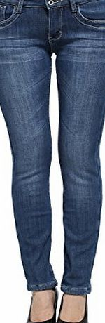 Camii Mia Womens Denim Slim Fit Fleece Jeans (29, Denim Blue)