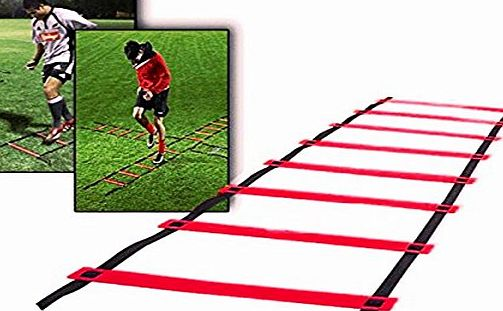 CAMTOA Agility Ladder, Speed Training Ladder,Speed Training Kit-9-rung, Quick Wellness Adjustable Flat, 5m Length for Soccer, Speed, Football Fitness Feet Training Serious Sports with Free Carry Bag R