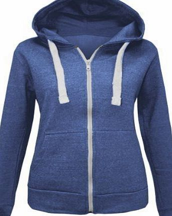 Candy Floss Fashion CANDY FLOSS LADIES HOODIE SWEATSHIRT FLEECE JACKET TOP DENIM NAVY SIZE 12