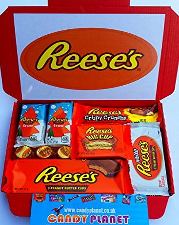 candyplanet Reeses Peanut Butter Cups Big Cup White Chocolate Crispy Crunchy Bar Mini Christmas Trees American Sweets Chocolate Candy Hamper Selection Box Hersheys Gift Christmas Present BY CANDYPLANETUK