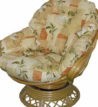 Cane Furniture Cushions by Gilda® Conservatory Replacement Swivel Rocker CUSHIONS ONLY Wicker Rattan Furniture Gilda® (Bamboo Natural)